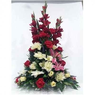 Centro de flor variada en artificial (Flor según stock)