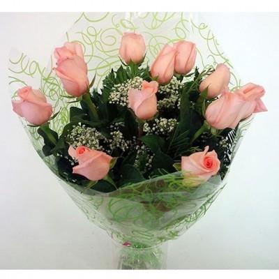 Ramo de 12 rosas color rosa