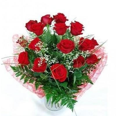 Ramo de 18 rosas rojas variadas o de calor.