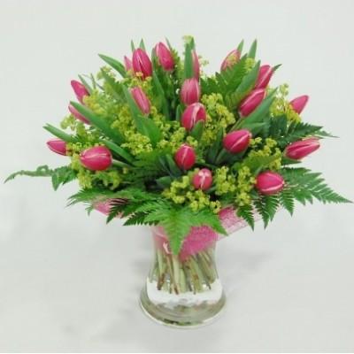 Ramo de tulipanes en bouquet